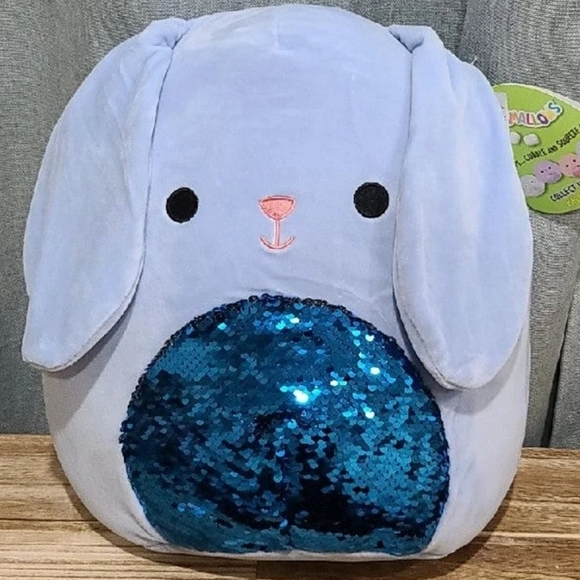 "12"" NWT Squishmallows Button the bunny w sequins"
